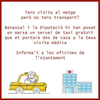 pedir taxi en benassal