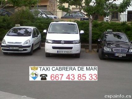 pedir taxi en cabrera de mar