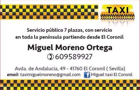 pedir taxi en coronil
