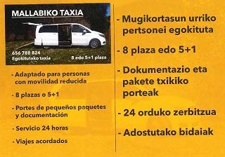 pedir taxi en mallabia