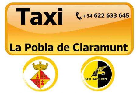 pedir taxi en pobla de claramunt