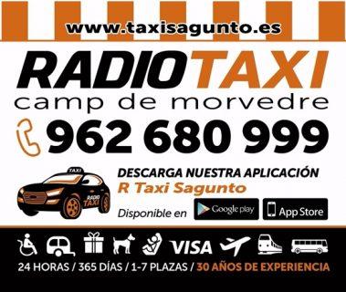 pedir taxi en sagunto