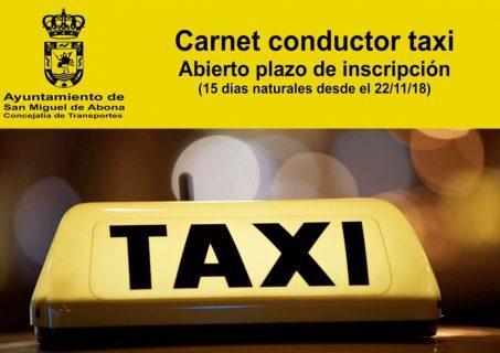 pedir taxi en san miguel de abona