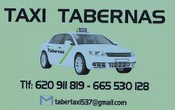 pedir taxi en tabernas