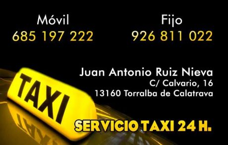 pedir taxi en torralba de calatrava