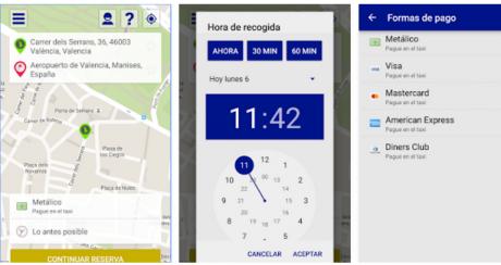 pedir taxi en valencia aplicaciones