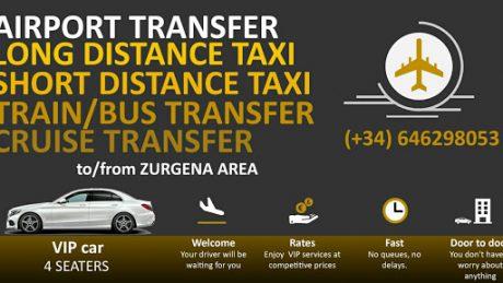 pedir taxi en zurgena